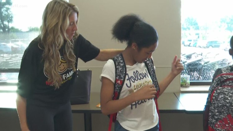 Big Brothers Big Sisters, Mack Family Foundation help kids get back to school
