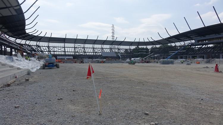 Butchertown Stadium taking shape