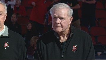 Denny Crum, 1975 Louisville Final Four squad honored