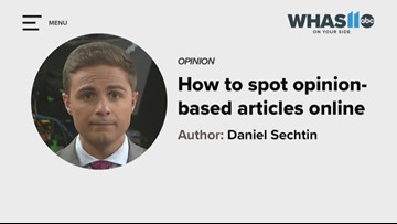 Just A Thought: How to spot opinion pieces vs. news articles