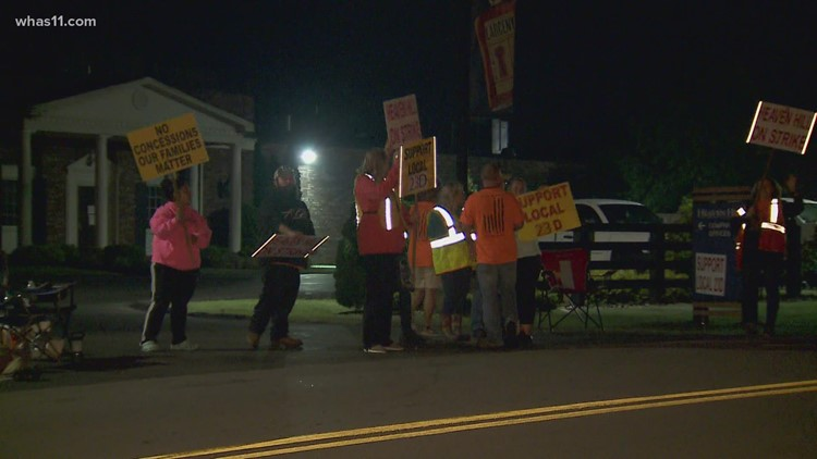Heaven Hill employees on strike