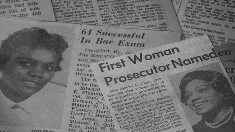 Newspaper clippings about Alberta Jones' success