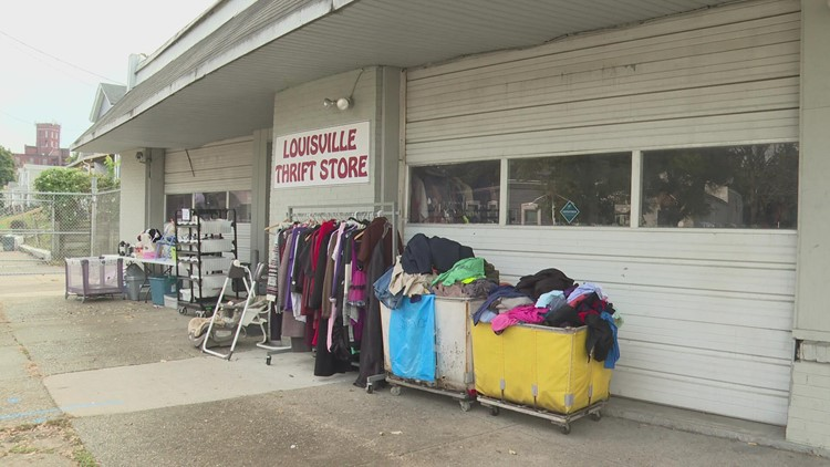 Louisville thrift store struggles to stay open amid construction