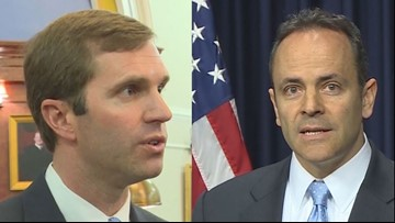 Bevin moves forward in re-election bid, faces Beshear in November