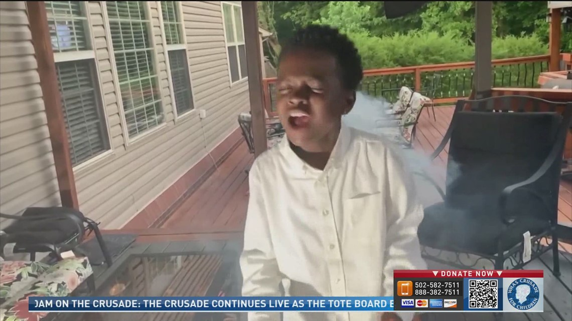 JCPS student, DCorey Johnson, dedicates a song to Crusade for Children