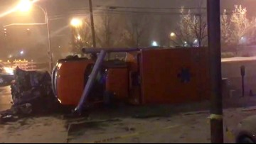 Two dead after collision involving ambulance