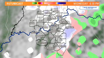 Snow showers likely for Wednesday evening commute; light snow possible for Friday morning rush