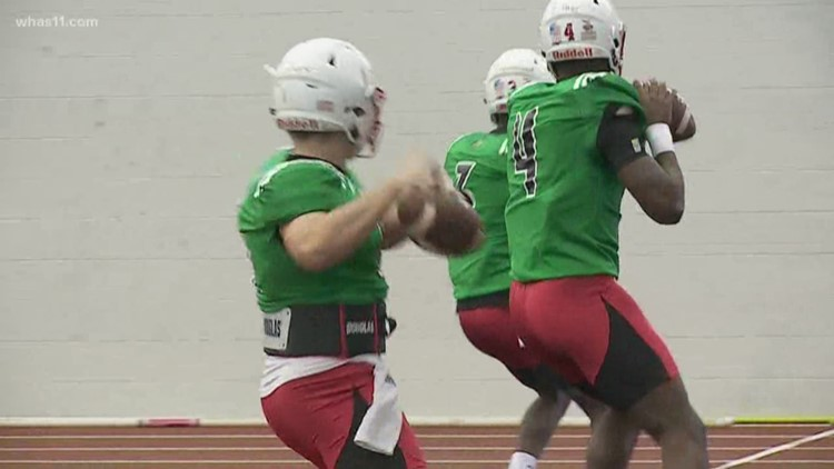 UofL football's Coach Satterfield gives spring football update