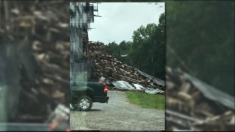 Another angle of the warehouse collapse in Bardstown, Ky.