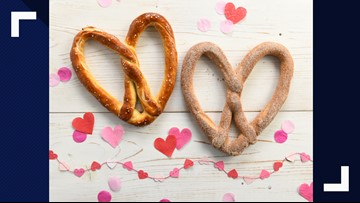 Love with a twist: Auntie Anne's offering heart-shaped pretzels for Valentine's Day
