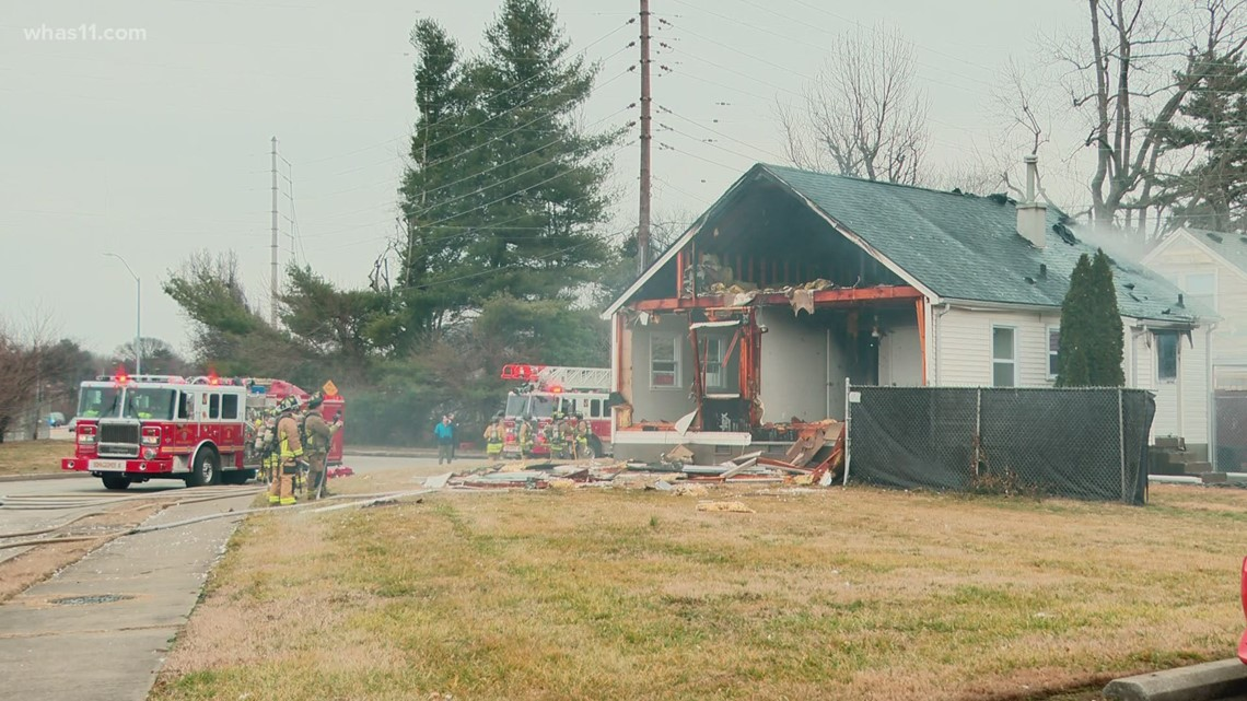 Louisville Fire investigates house explosion
