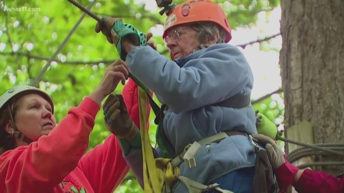 100-year-old Indiana woman celebrates birthday by ziplining