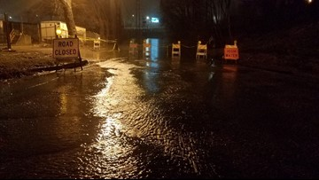 Heavy rains are flooding and closing roadways in Louisville and Southern Indiana