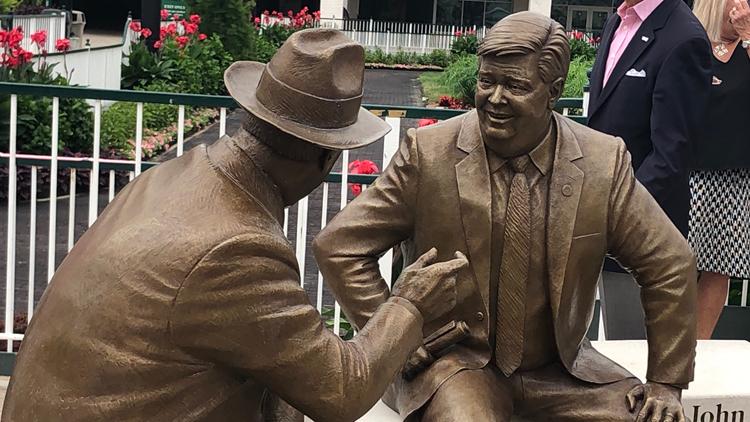 Churchill Downs unveils statues of John Asher, Colonel Matt Winn
