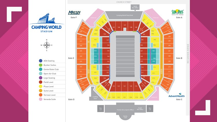 What fans need to know before heading out to the Citrus Bowl ... Citrus Bowl Seating Map on
