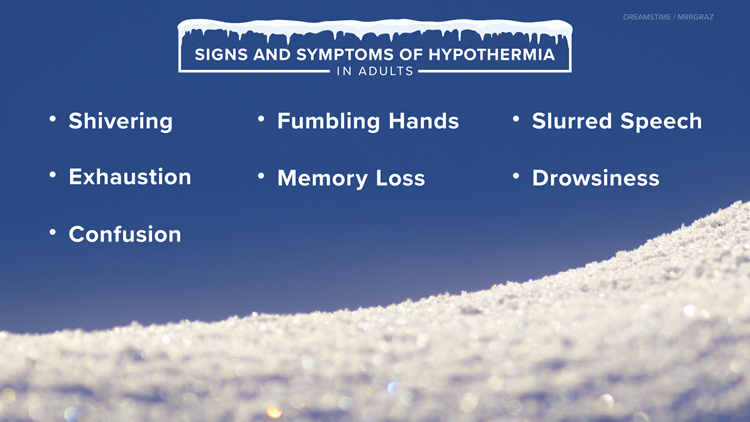 Signs of hypothermia and other cold weather tips