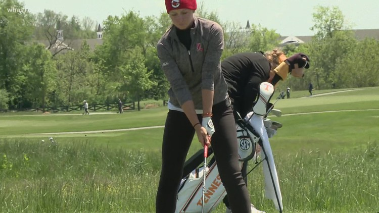 Louisville's Hartlage feels crowd support at the course