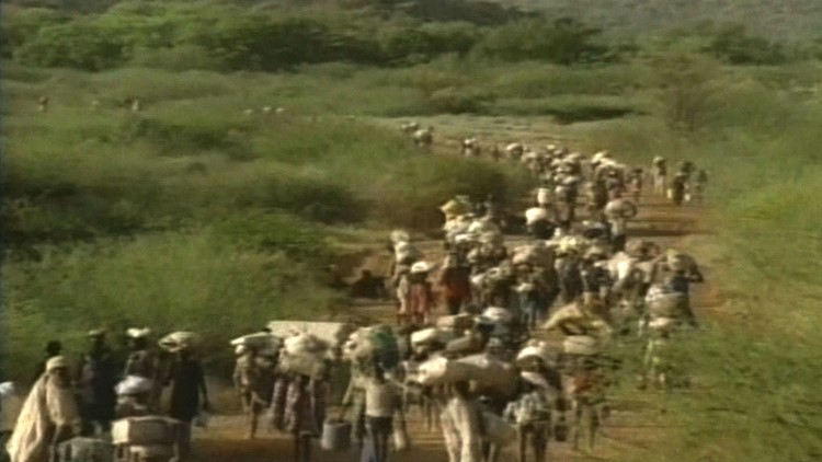 'Lost Boys of Sudan' travel on foot