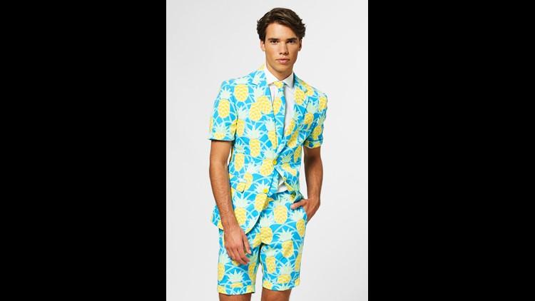 Pineapple Print Suit Kentucky Derby
