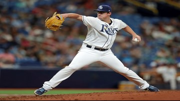 McKay takes perfect game into the 6th, Rays beat Rangers 5-2