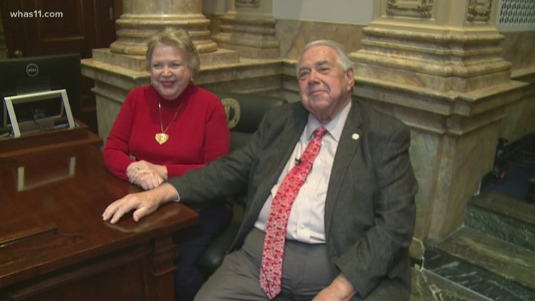 Married 56 years and spending Valentine's Day working 20 feet from each other at Kentucky Capitol