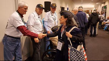 110 veterans coming home from last Honor Flight of the year
