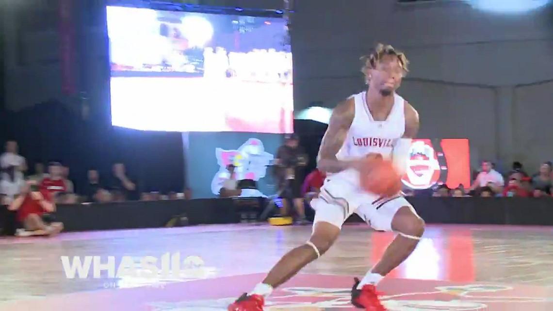 Perfect 10: UofL's El Ellis wins dunk contest during Louisville Live