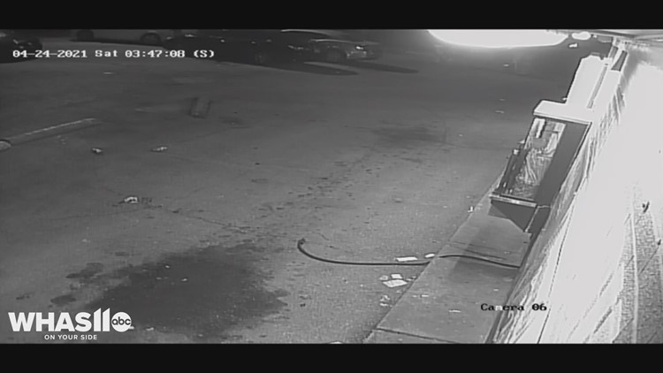 Surveillance video shows drive-by shooting in Dixie Highway parking lot