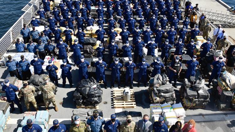 PHOTOS   US Coast Guard offloads $1.45B in cocaine, marijuana at Port Everglades