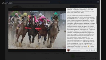 Discussing Maximum Security's disqualification from Kentucky Derby