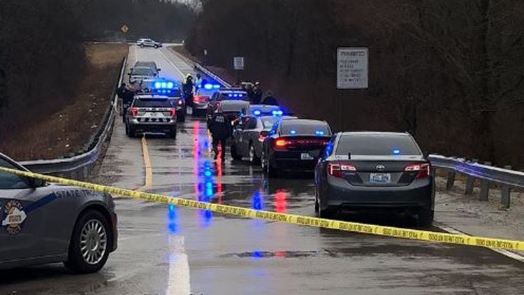 The Kentucky State Police is investigating a shooting on an I-71 south ramp.