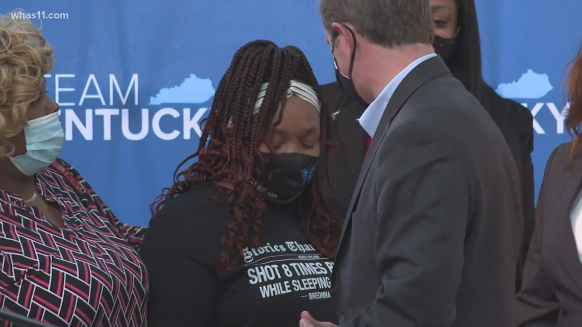 Breonna Taylor's family attends Gov. Beshear's signing of no-knock warrant bill into law