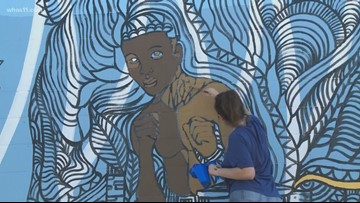 Students paint mural to revitalize Portland