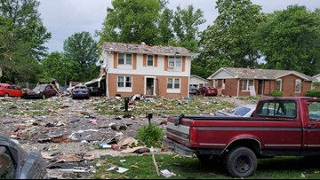 Residents find debris blocks away from Jeffersonville house explosion
