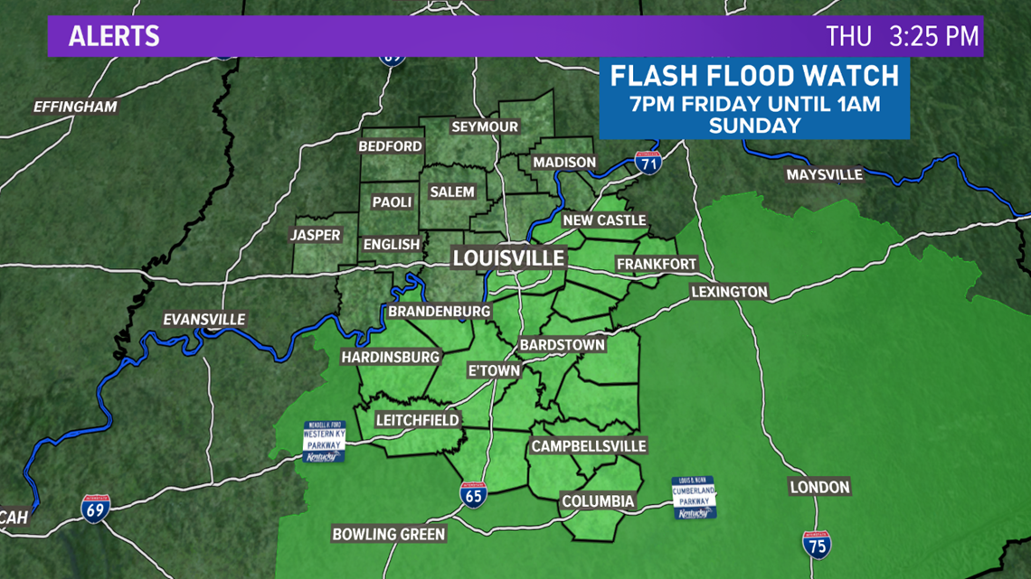 Rain and storms this weekend increase the flood threat across Kentuckiana once again