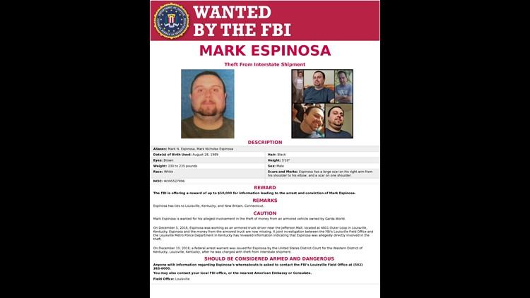 Mark Espinosa Wanted Poster