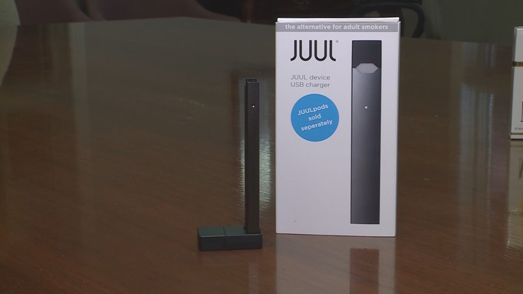 A juuling device next to the box (Photo: WHAS11)