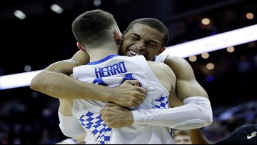 Kentucky hangs on to advance to Elite Eight with 62-58 win over Houston