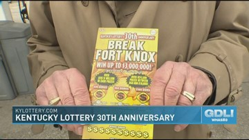 KY Lottery gives away free scratch-offs to celebrate 30th
