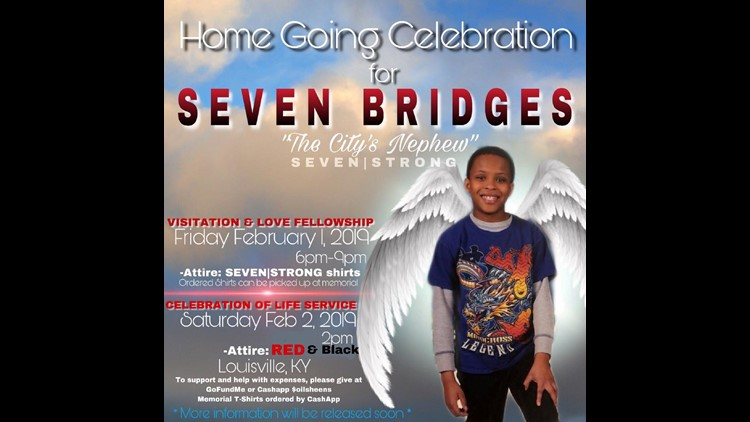 Seven's Home Going Celebration announcement