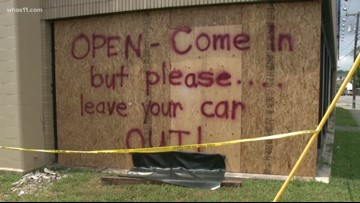 Paint store responds with lighthearted message after car crash