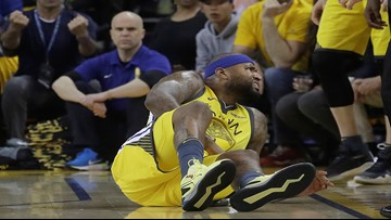 Warriors center DeMarcus Cousins has torn left quadriceps