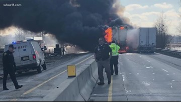 Multiple-vehicle crash shuts I-65S