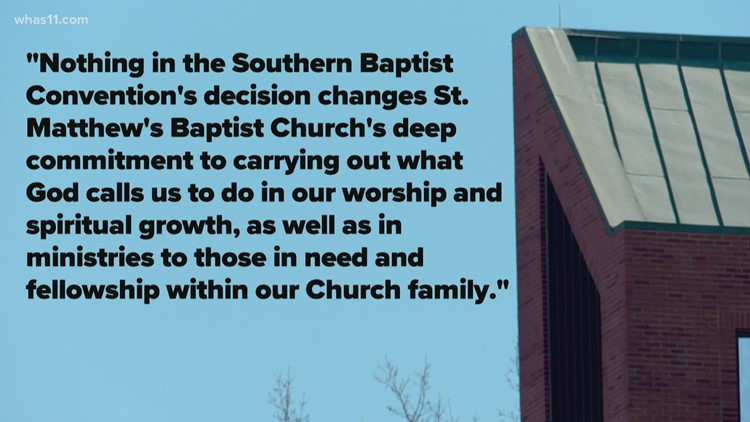 St. Matthews Baptist Church expelled by Southern Baptist Convention for LGBTQ inclusion