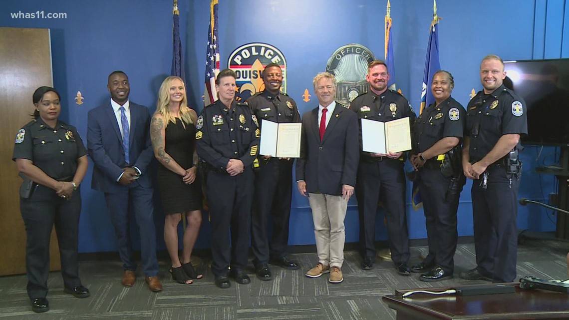 LMPD officers honored for capturing suspect charged with shooting 2 women