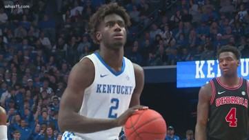 Kentucky men's basketball player Kahlil Whitney leaving program