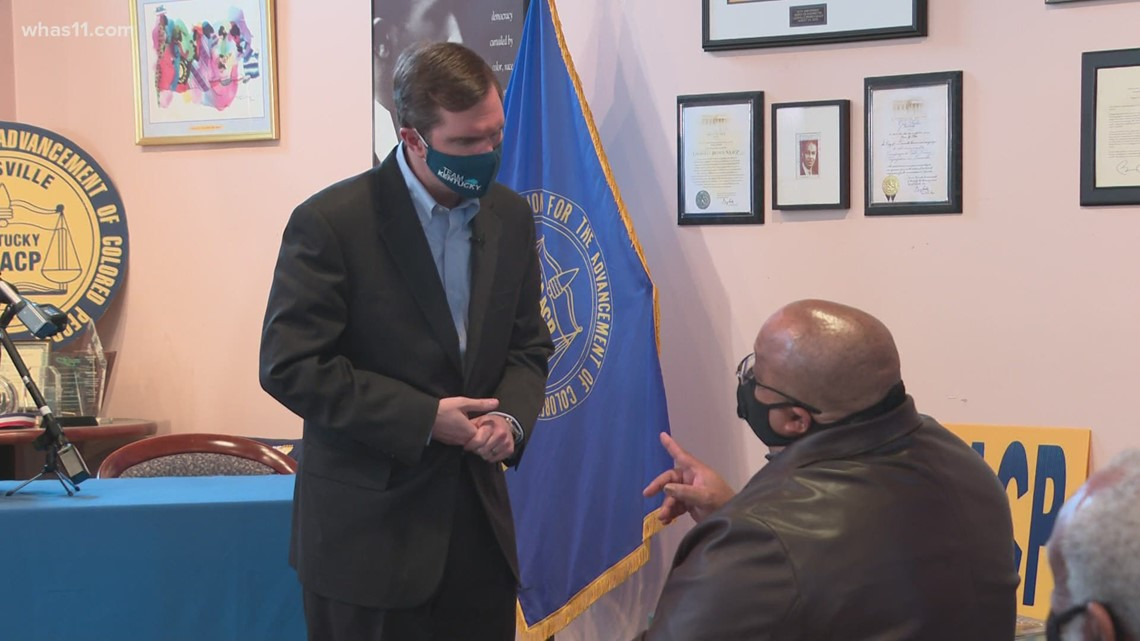 Beshear joins Louisville NAACP leaders to raise COVID-19 vaccine awareness