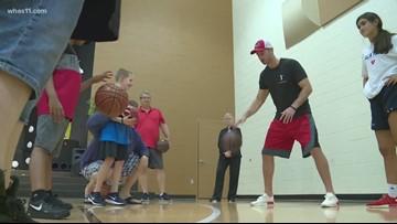 Former Cardinal Luke Hancock hosts basketball camp for autistic children