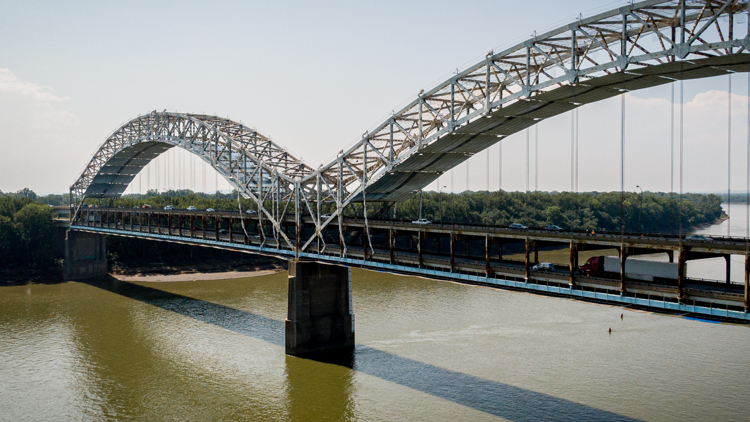 Sherman Minton Bridge Renewal: 9-day westbound closure scheduled for October