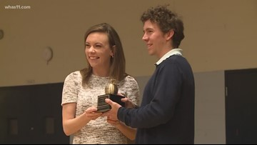 ExCEL Award: Zachary Hypes recognized for excellence in classroom